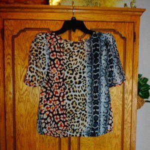 Express Multicolored Snake Print Top